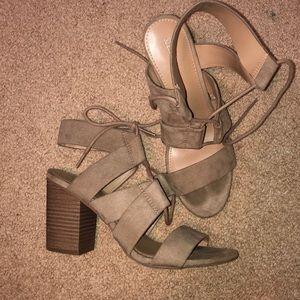 Suede casual heels